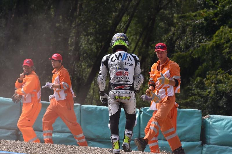Кэл Кратчлоу - падение, Гран-При Чехии, 2015, MotoGP