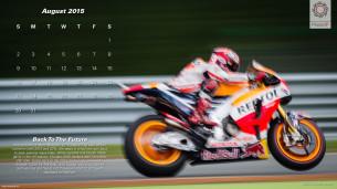 Календарь в стиле MotoGP на август 2015 года от фотографа Скотта Джонса