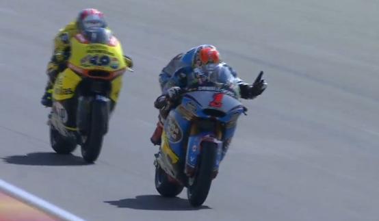 Победный обгон Рабата в гонке Moto2 Гран-При Арагона 2015