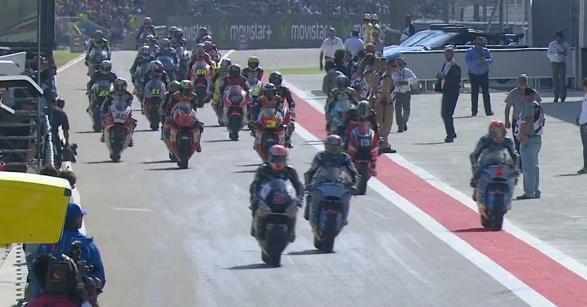 Гонка Moto2 Гран-При Арагона 2015 прервана красными флагами