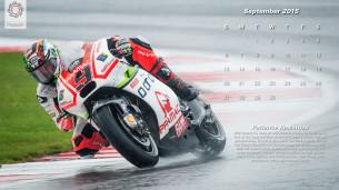 Календарь в стиле MotoGP на сентябрь 2015 года от фотографа Скотта Джонса