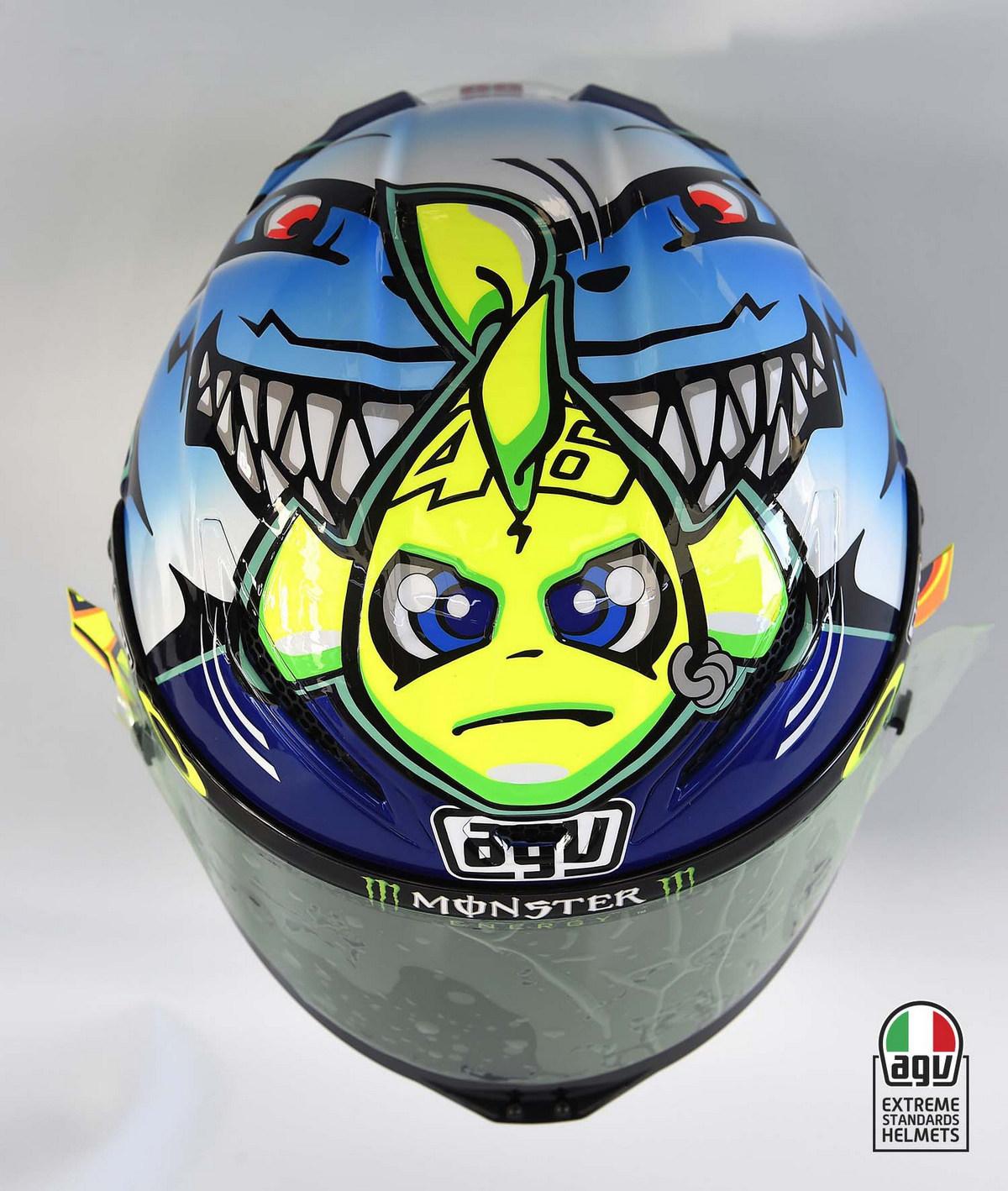 Шлем Валентино Росси (Мизано, 2015)