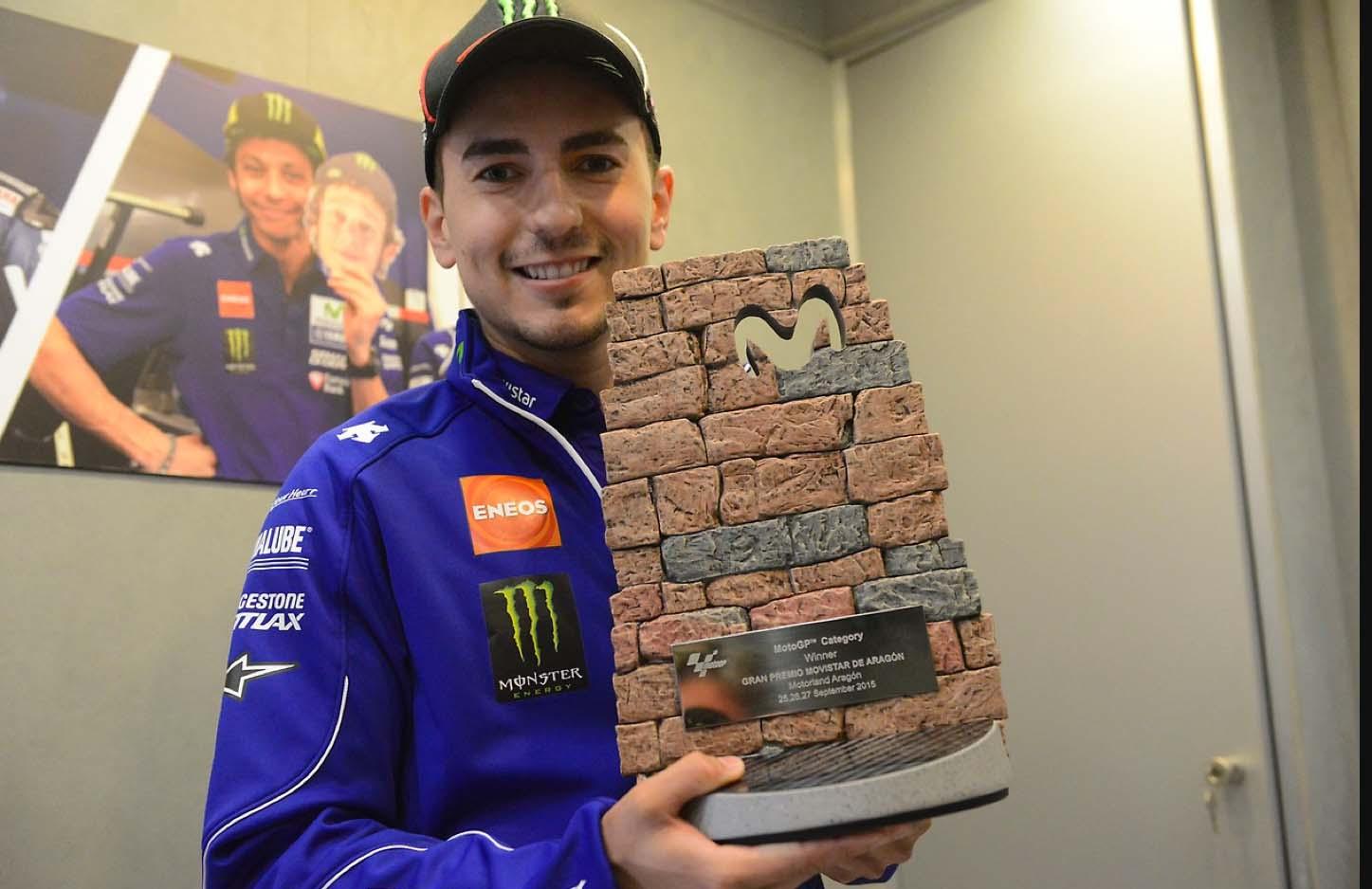 Хорхе Лоренсо (приз победителю Гран-При Арагона)