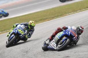 Валентино Росси и Хорхе Лоренсо, MotoGP Гран-При Малайзии 2015