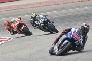 Валентино Росси, Хорхе Лоренсо, Марк Маркес, MotoGP Гран-При Малайзии 2015