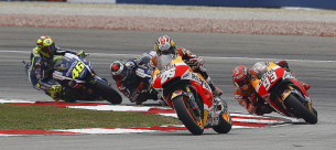 Дани Педроса, Марк Маркес, Хорхе Лоренсо, Валентино Росси, MotoGP Гран-При Малайзии 2015