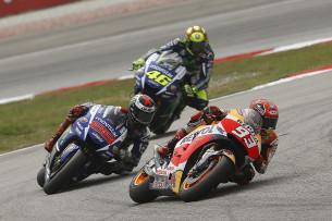 Маркес и Лоренсо, MotoGP Гран-При Малайзии 2015