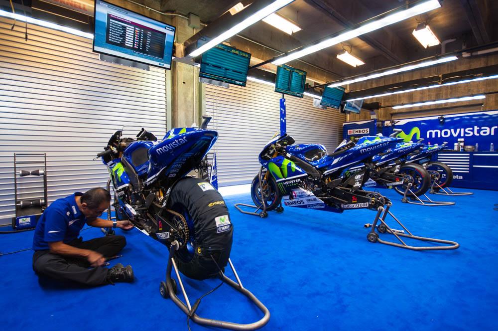 Гараж Movistar Yamaha MotoGP