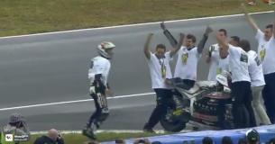 Видео: Сальто от чемпиона мира Moto2 Жоанна Зарко
