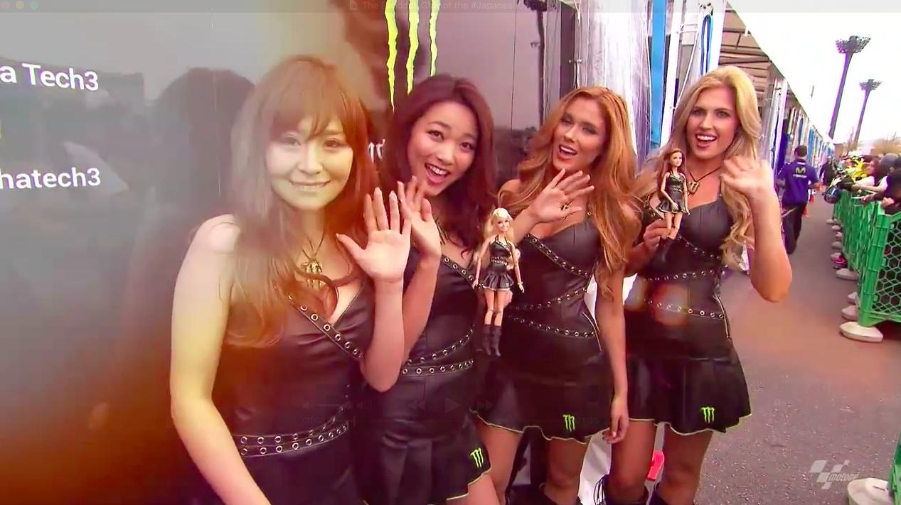 #JapaneseGP 2015: Девушки паддока (видео)