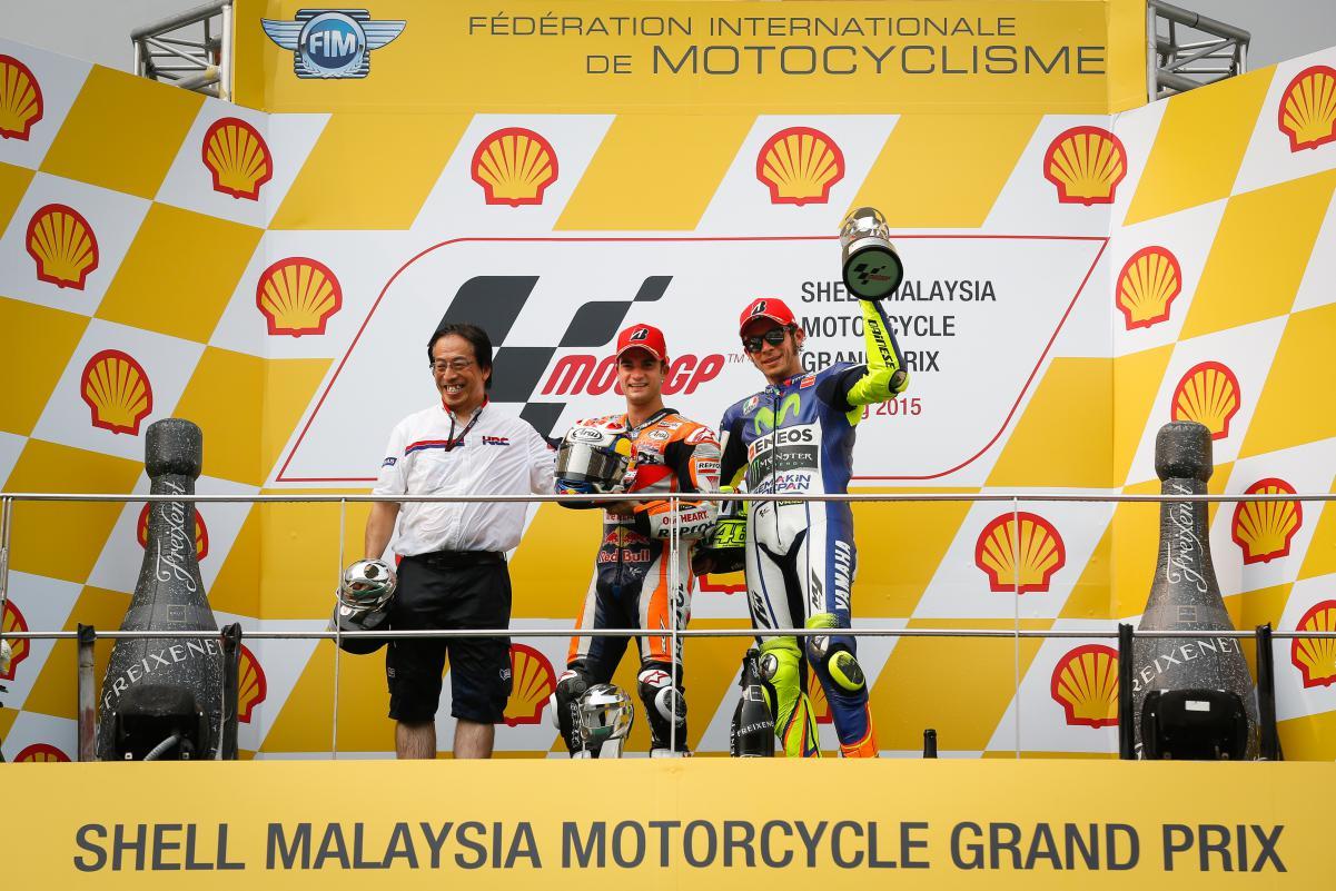 Дани Педроса и Валентино Росси, MotoGP Гран-При Малайзии 2015
