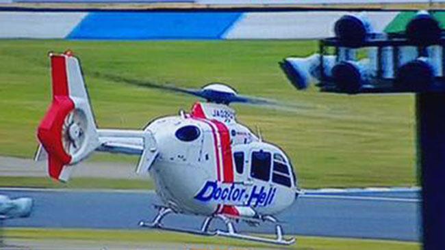 Алекс Де Анджелис отправлен на вертолете в госпиталь