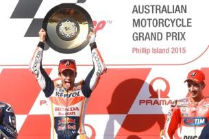 Марк Маркес - победитель гонки MotoGP Гран-При Австралии 2015