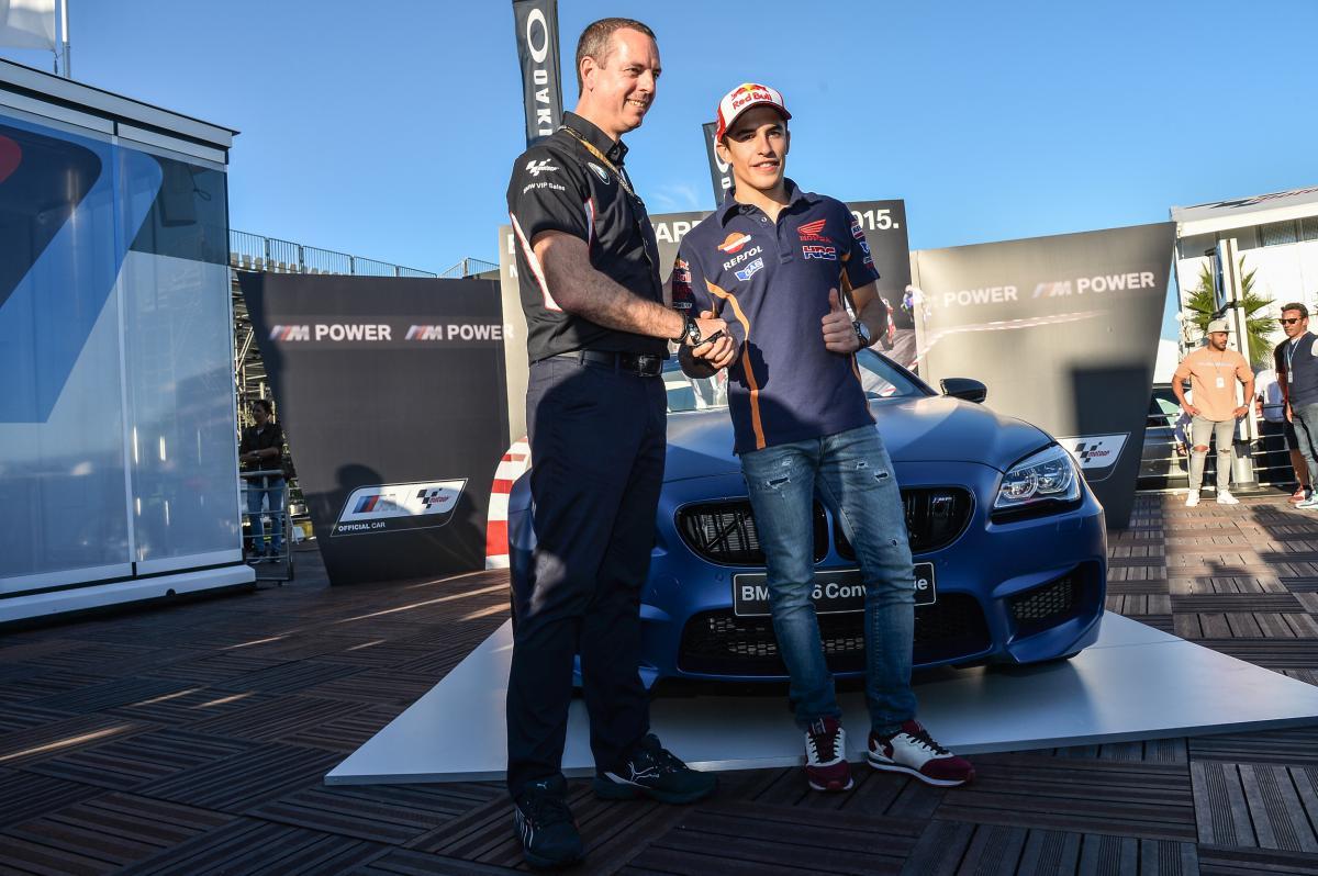 Марк Маркес - обладатель BMW M Award (2015)