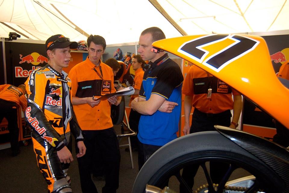 Стоунер и KTM 125 FRR (2004)