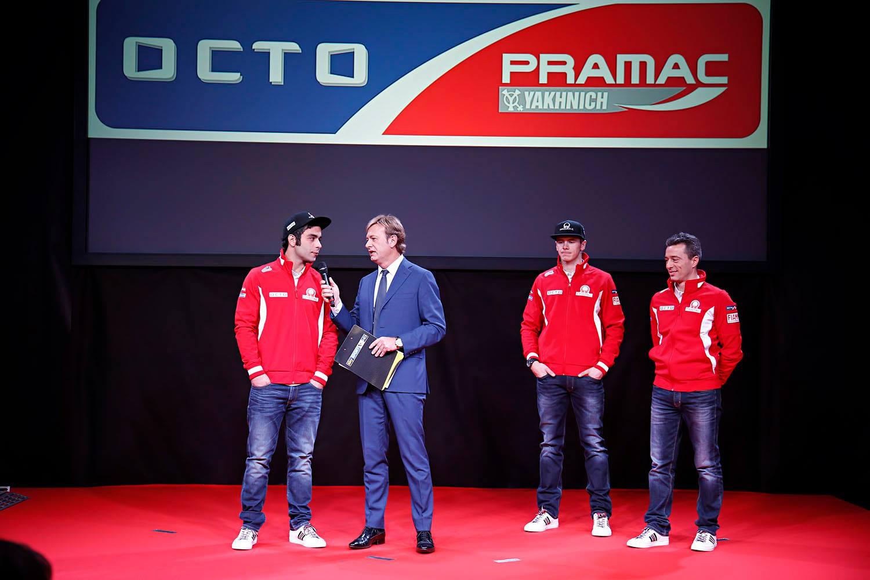 Данило Петруччи на презентации Octo Pramac Yakhnich