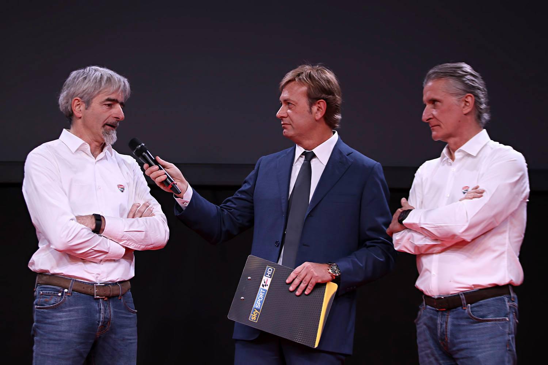 Луиджи Даллинья и Паоло Чиабатти на презентации Octo Pramac Yakhnich