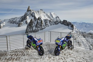 Movistar Yamaha MotoGP отдохнула на горнолыжном курорте с M1