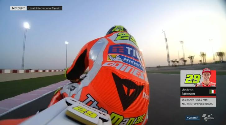 Андреа Ианноне, рекорд максимальной скорости MotoGP