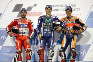 Подиум MotoGP Гран-При Катара 2016