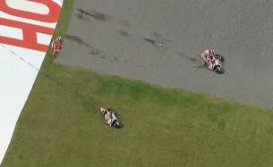 Авария Андреа Ианноне и Андреа Довициозо в гонке MotoGP Гран-При Аргентины 2016