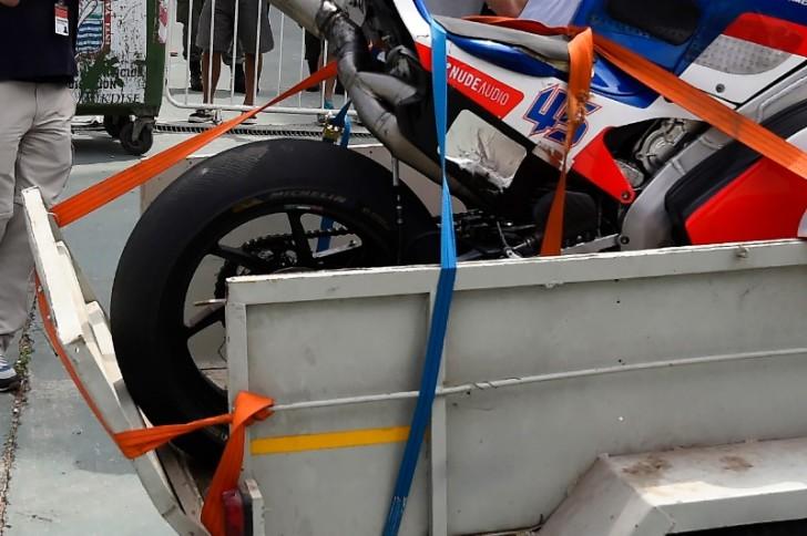 Мотоцикл Скотта Реддинга после аварии, MotoGP 2016