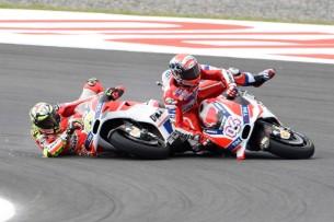 Раскадровка аварии Ианноне и Довициозо в гонке MotoGP Гран-При Аргентины 2016