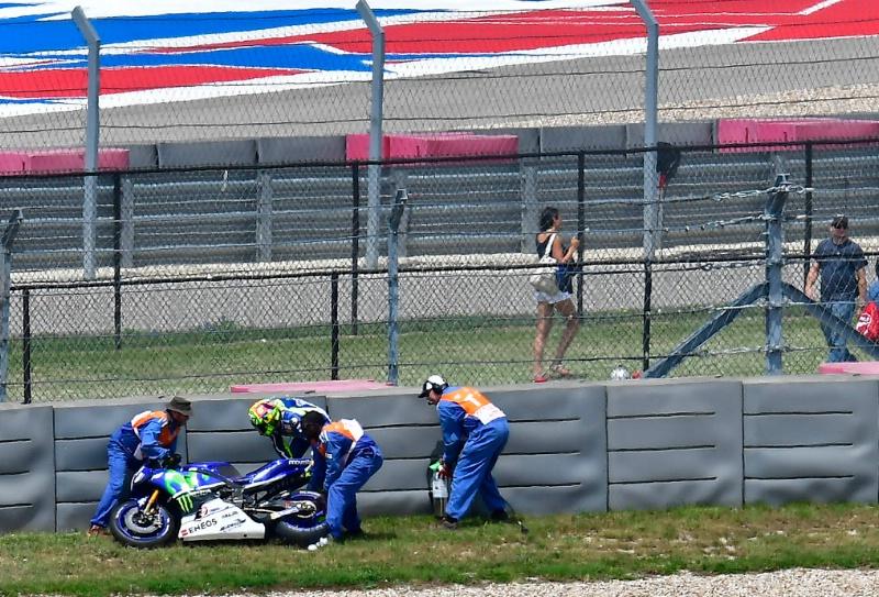 Валентино Росси, Гран-При Америк 2016, падение