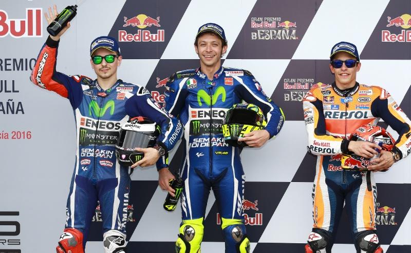 Квалификация MotoGP Гран-При Испании 2016: Лоренсо, Росси, Маркес
