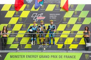 Бред Биндер, Романо Фенати, Хорхе Наварро, подиум Гран-При Франции 2016