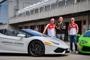 Довициозо и Стоунер в Lamborghini Accademia