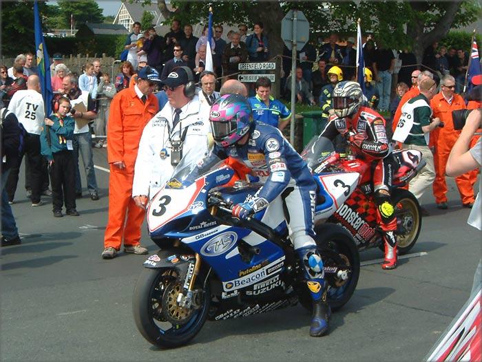 Эдриан Арчибальд на Isle of Man TT 2003