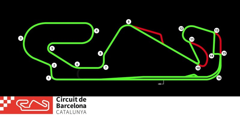 Барселона-Каталунья, конфигурация для Формулы-1
