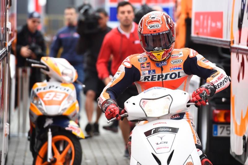 Марк Маркес на скутере, Гран-При Нидерландов, MotoGP 2016
