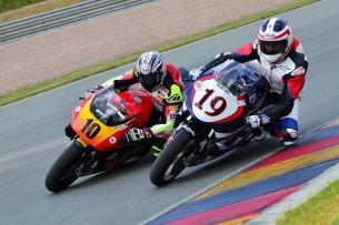 Спенсер и Маккой на World GP Bike Legends 2016