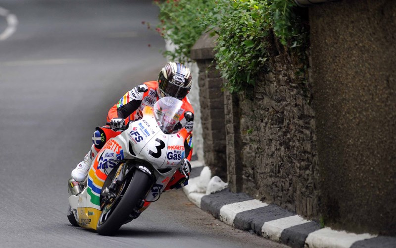 Джон МакГиннес на Isle of Man TT 2008
