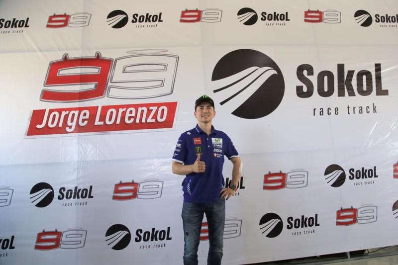 Хорхе Лоренсо на автодроме Сокол
