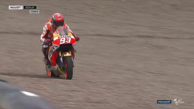 Марк Маркес, ошибка в гонке MotoGP Гран-При Германии