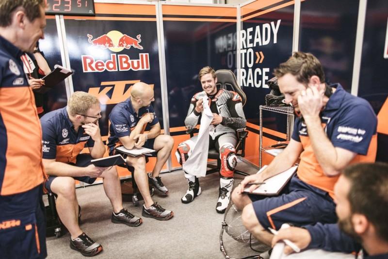 Томас Люти на тестах KTM RC16