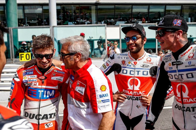 Стоунер, Тардоцци, Петруччи и  Реддинг на World Ducati Week 2016