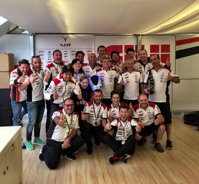 LCR Honda празднует подиум Крачлоу в Германии 2016
