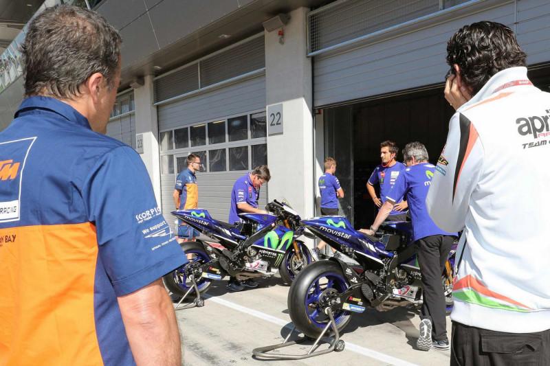 Мотоциклы Movistar Yamaha на тестах в Австрии 2016