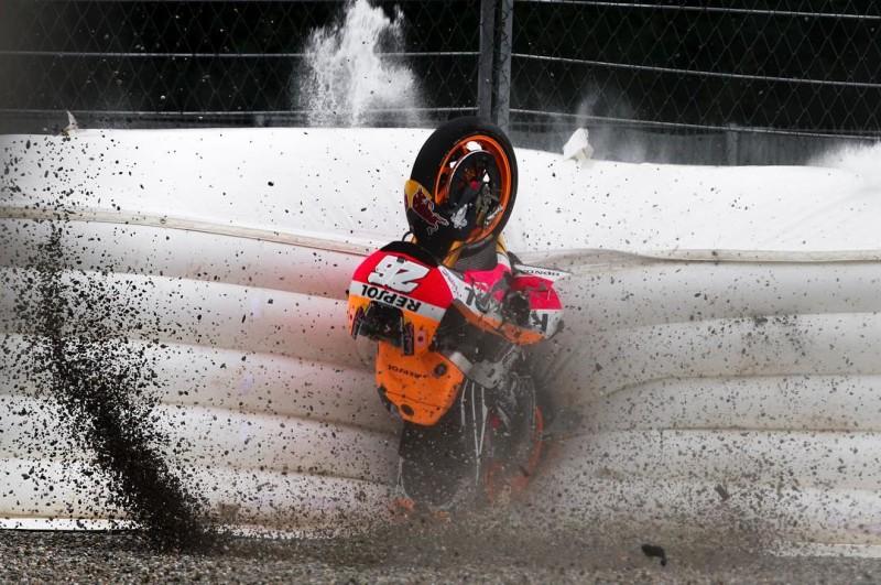 Дани Педроса, авария, Австрия 2016, RC213V