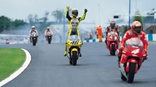 Валентино Росси, первая победа в MotoGP (Донингтон, 2000)