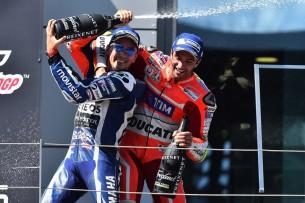 Подиум Гран-При Австрии 2016: Ианноне, Лоренсо