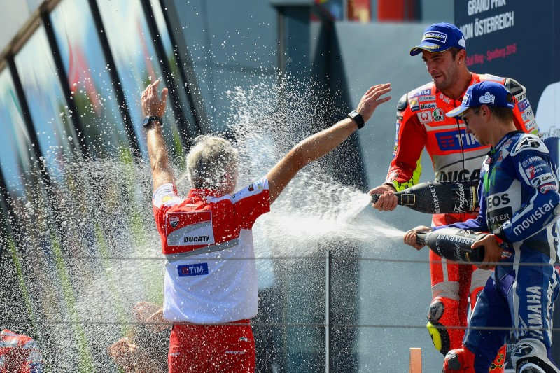 Подиум Гран-При Австрии 2016: Ианноне, Лоренсо, Даллинья