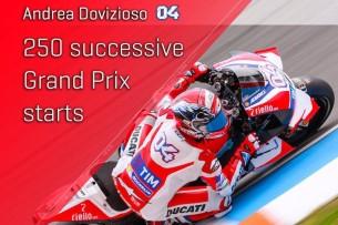 Андреа Довициозо, 250-ый старт подряд