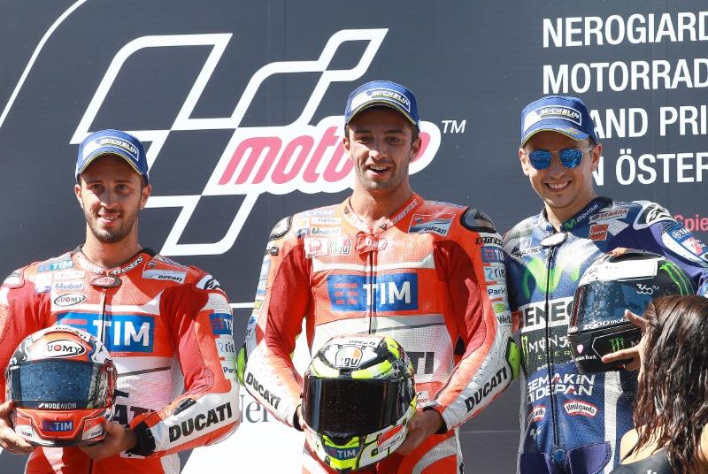 Андреа Ианноне, Ducati Team, первая победа Ducati после ухода Кейси Стоунера, Гран-При Австрии 2016, Довициозо, Лоренсо