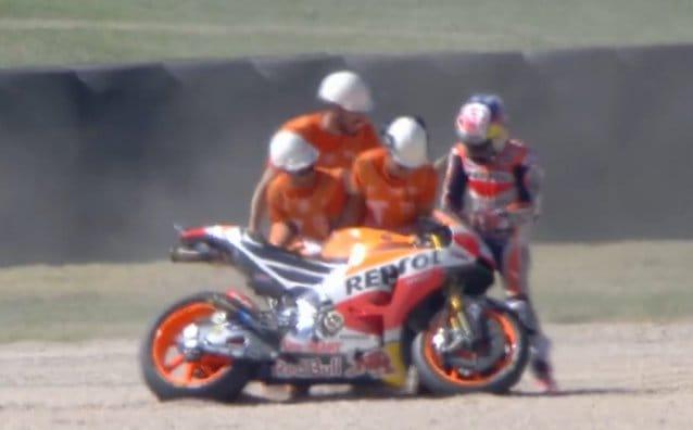 #AragonGP QP2: падение Дани Педросы