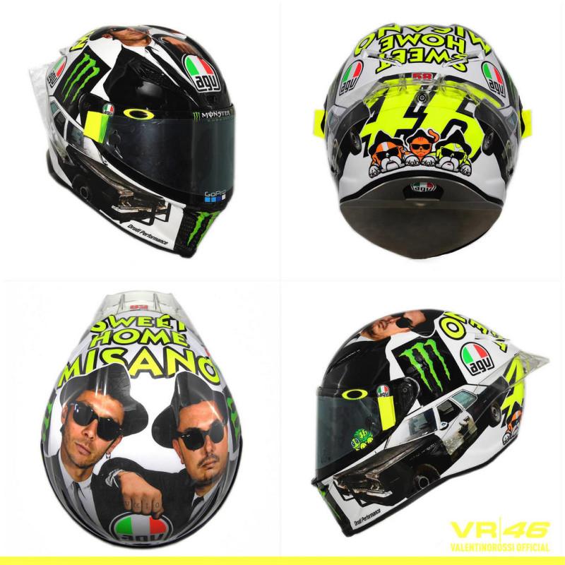 Шлем Валентино Росси для Гран-При Сан-Марино 2016